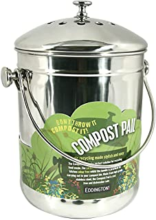 Eddingtons 83004 - Cubo de Compost en Acero Inoxidable